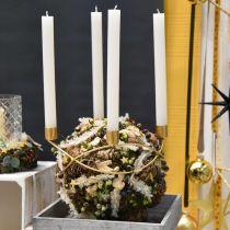 Kerzenhalter Gold Adventskranz Metall Für Stabkerzen Ø24cm