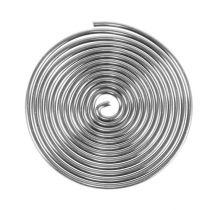 Drahtschnecke Metallschnecke Silber 2mm 120cm 2St