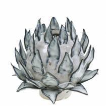 Dekovase Artikschocke Keramik Blau, Weiß Ø9,5cm H9cm