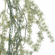 Künstliche Asparagus-Girlande Weiß, Grau Dekohänger 170cm