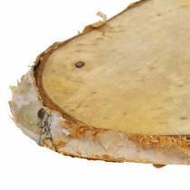 Holzscheiben Birke oval Natur 7,5×13cm 1kg