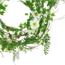 Blütengirlande Weiß 180cm