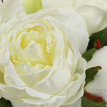 Blumenstrauß Pfingstrosen Weiß L30cm