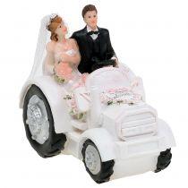 Deko Brautpaar auf Traktor H10cm