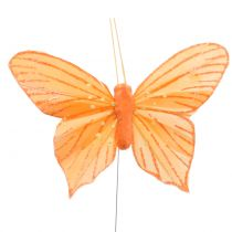 Deko-Schmetterling Orange 12St