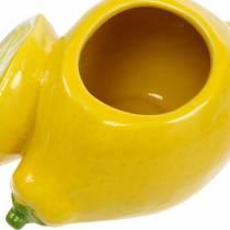 Deko-Topf Zitrone Vase Zitrusfrucht Keramik Sommerdeko
