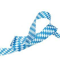 Dekoband Weiß-Blau 25mm 20m