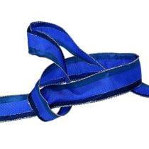 Dekoband mit Drahtkante Blau 25mm 20m