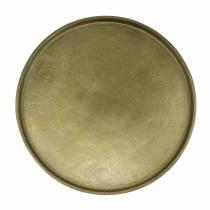 Dekoteller Ton Ø20cm Gold