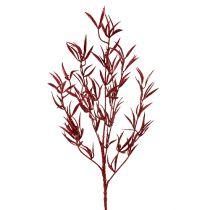 Dekozweig Rot mit Glimmer 69cm 2St