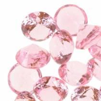 Dekosteine Diamant Acryl Hellrosa Ø1,8cm 150g Streudeko für den Tisch