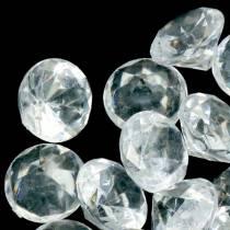 Dekosteine Diamant Klar Ø2,8cm 150g Tischdekoration