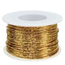 Draht umwickelt Gold Ø2mm 100m