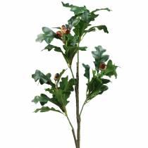 Eichenlaubzweig mit Eicheln künstlich 90cm