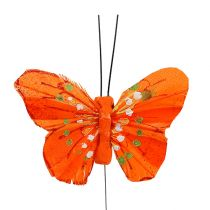 Federschmetterlinge 6cm Gelb, Orange 24St