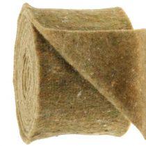 Topfband Filzband Grün mit Punkten 15cm x 5m