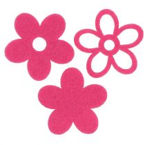 Filzblume zum Streuen Pink als Deko-Set Ø4cm 72St