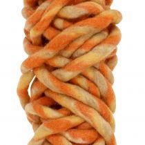 Filzschnur 25m Orange, Gelb, Braun