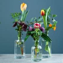 Flasche Vase klein Ø5,5cm H10,5cm klar 6St