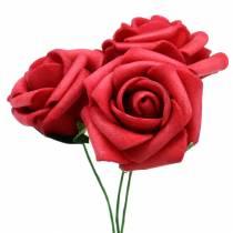 Foam-Rose Ø3,5cm Rot 48St