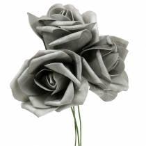 Foam-Rose Ø10cm Grau 8St