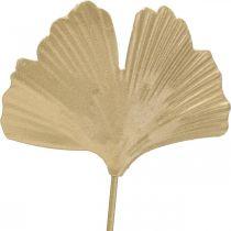 Ginkgozweig Metall Dekostecker Ginkgo Golden 14×28cm 6St