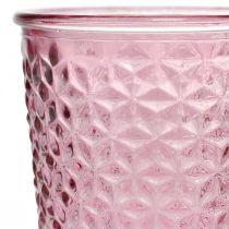 Kerzenbecher, Pokalglas, Windlicht, Glasdeko Ø10cm H18,5cm
