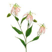 Gloriosa Rosa-Weiß künstlich 84cm 3St