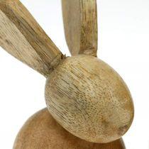 Osterdeko Hase Holz Deko sitzend Osterhase Natur 12cm 4St