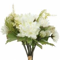Chrysanthemenstrauß Mix Weiß 35cm