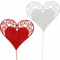 Herz am Stab, Dekostecker Herz, Hochzeitsdeko, Valentinstag, Herzdeko 16St