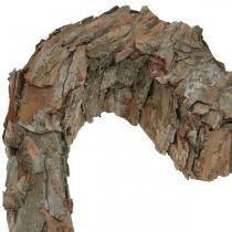 Deko Herz offen Pinienrinde Herbstdeko Grabschmuck 30×24cm