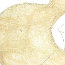 Herzmanschette Sisal gebleicht 25cm 6St