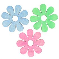 Holzblüte zum Streuen Pink, Grün, Blau Ø4cm 72St