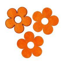 Holzblume zum Streuen Orange 4cm 72St