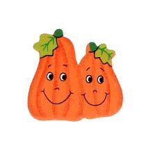 Holzkürbisse zum Kleben 2,5cm Orange 18St