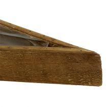 Holzschale zum Bepflanzen Natur 79cm x14cm x7,5cm