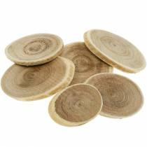 Deko Holzscheiben oval Natur Scheibe Ø4-7cm Holzdeko 400g