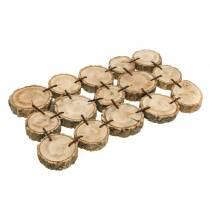 Dekotablett aus Holzscheiben Natur 37×22,5cm