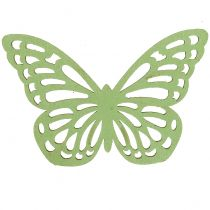 Holzschmetterling Grün/Weiß 5cm 36St