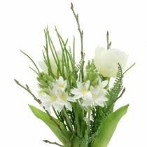 Strauß mit Hyazinthen und Tulpen künstlich 34cm