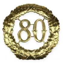 Jubiläumszahl 80 in Gold Ø40cm