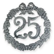 Jubiläumszahl 25 in Silber