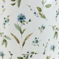 Deko-Kanne Metall Vintage Blumenvase Gartendeko Pflanzkübel H33cm