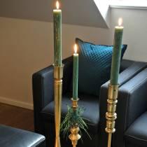 Kerzenhalter messingfarben Metall Antik-Optik Ø8cm H53,5cm