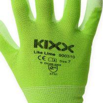 Kixx Nylon Gartenhandschuhe Gr.8 Hellgrün, Limette