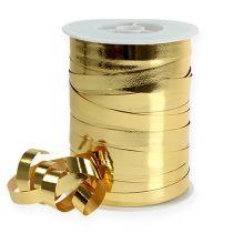 Kräuselband glänzend 10mm 250m Gold