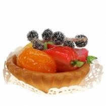 Törtchen Mandarine künstlich Ø8cm