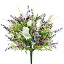 Künstlicher Blumenstrauß, Tischdeko, Seidenblumen, Frühlingsstrauß Bunt