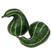 Künstlicher Zierkürbis Dunkelgrün 11cm 6St